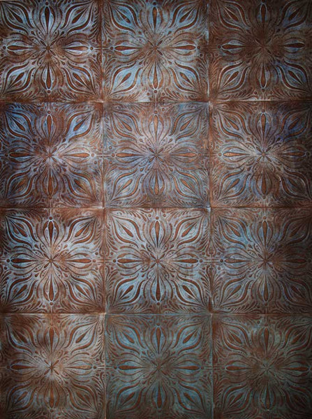 Brown Patina Tile Wall Backdrop - 2009 - Backdrop Outlet