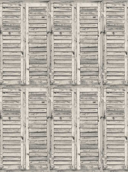 2079 Printed Background Rustic White Wood  Shutters Backdrop - Backdrop Outlet - 3