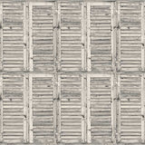 2079 Printed Background Rustic White Wood  Shutters Backdrop - Backdrop Outlet