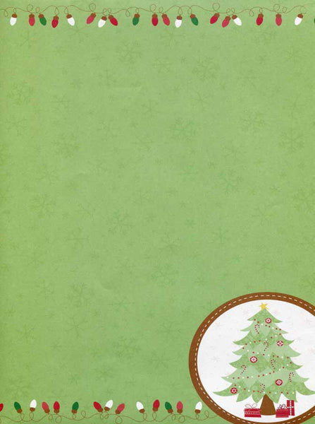 Green Christmas Modern Backdrop - 2080 - Backdrop Outlet
