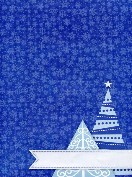 2081 Blue Snowflake Christmas Backdrop - Backdrop Outlet