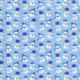 Blue Snowman Christmas Backdrop - 2082 - Backdrop Outlet