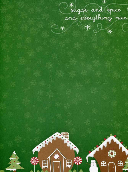 Green Gingerbread Christmas Backdrop - 2088 - Backdrop Outlet
