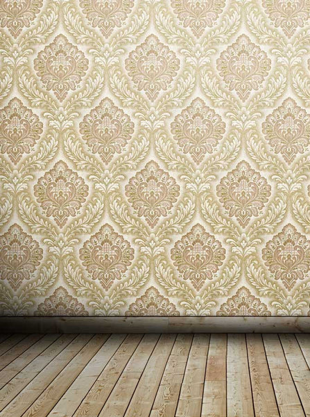 Damask Ivory Tan Backdrop - 2103 - Backdrop Outlet