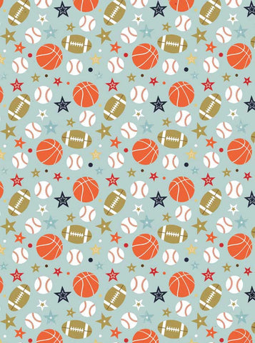 Basketball Football Baseball All Star Backdrop school - 2126 - Backdrop Outlet