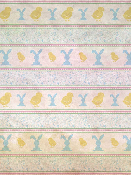 2131 Printed Easter Chicks and Bunnies Backdrop - Backdrop Outlet