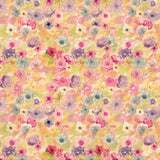 2158 Watercolor Flower Blooms Backdrop - Backdrop Outlet