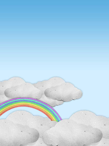 2185 Rainbow Clouds Backdrop - Backdrop Outlet