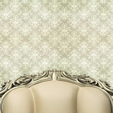 Damask Ivory Sand Headboard Backdrop - 2200 - Backdrop Outlet