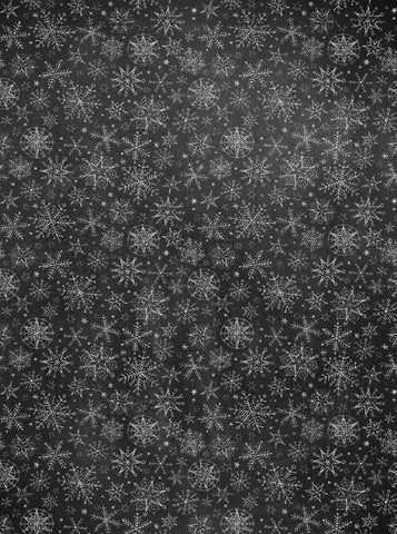 Chalkboard Snowflakes Printed Photo Backdrop - 2213 - Backdrop Outlet