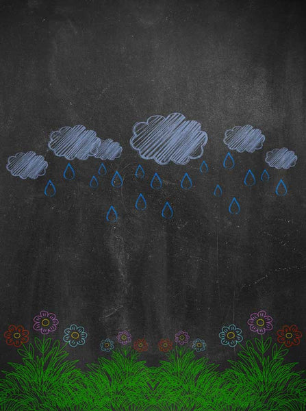 2231 Chalkboard  Rain Garden Backdrop - Backdrop Outlet