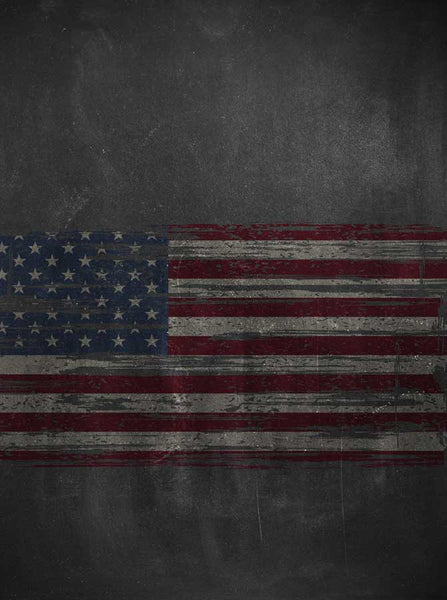 2234 Chalkboard American Flag Backdrop - Backdrop Outlet