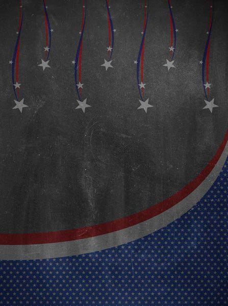 2236 Chalkboard  Patriotic Stars Backdrop - Backdrop Outlet