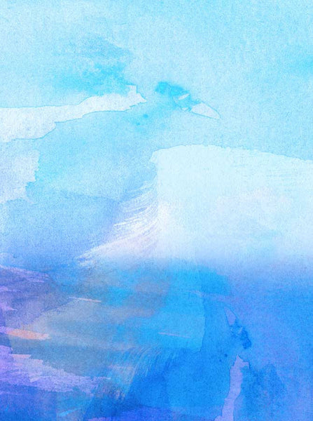 Abstract Blue Watercolor Backdrop - 2244 - Backdrop Outlet