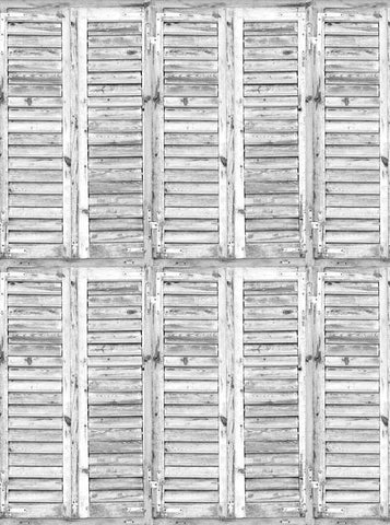 2275 Shutters Weatherd White Backdrop - Backdrop Outlet