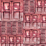 2279 Shutters Mixed Red Backdrop - Backdrop Outlet