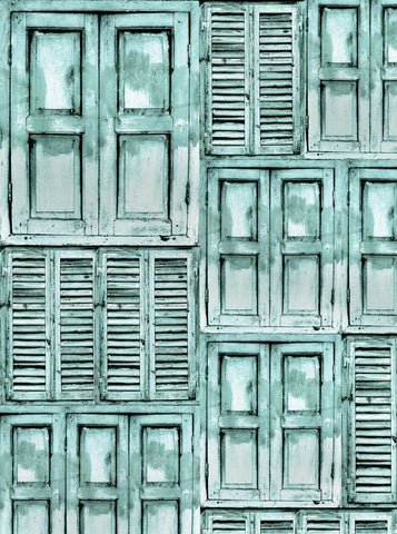2280 Shutters Aqua Backdrop - Backdrop Outlet