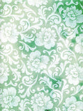 2311 Green Floral Backdrop - Backdrop Outlet