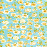 Teal Yellow Flower backdrop - 2314 - Backdrop Outlet