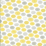 Printed Yellow and Grey Pattern Dots Backdrop - 2315 - Backdrop Outlet