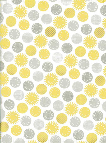 2315 Printed Yellow and Grey Pattern Dots Backdrop - Backdrop Outlet - 7