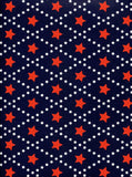 Red Star Pattern Backdrop - 2344 - Backdrop Outlet