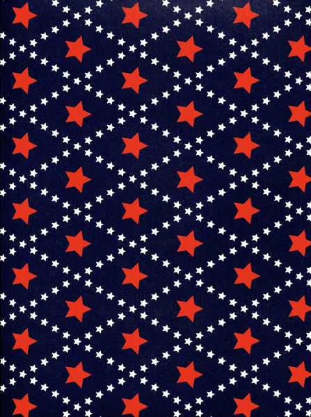 2344 Red Star Pattern Backdrop - Backdrop Outlet