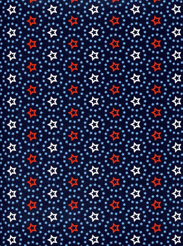 Blue Patriotic Pattern Backdrop - 2347 - Backdrop Outlet