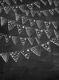 2369 Chalkboard Bunting Flags Backdrop - Backdrop Outlet