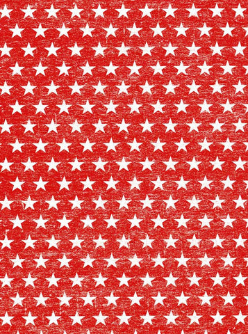 2374 Red White Stars Backdrop - Backdrop Outlet