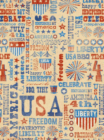 2378 Mixed USA Backdrop - Backdrop Outlet