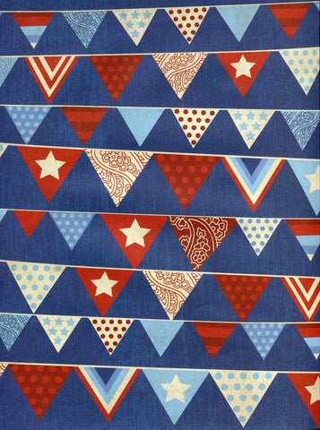 Patriotic Bunting Flags Backdrop - 2389 - Backdrop Outlet
