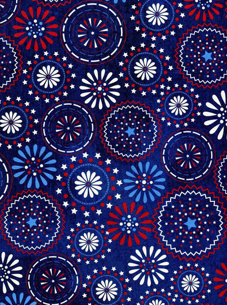 2391 Patriotic Circles Backdrop - Backdrop Outlet
