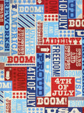 Boom Liberty July 4th Printed Photography Backdrop - 2392 - Backdrop Outlet