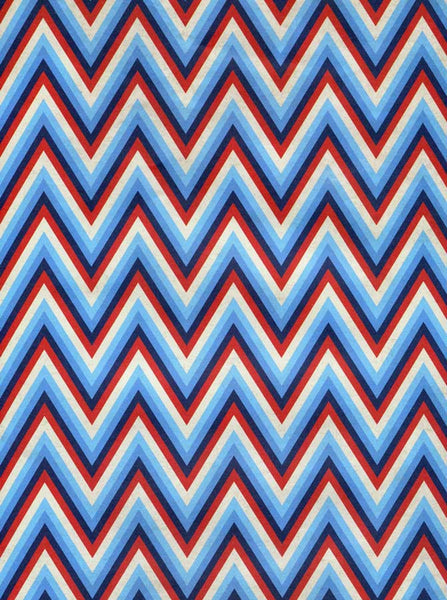 Patriotic Chevron Backdrop - 2393 - Backdrop Outlet