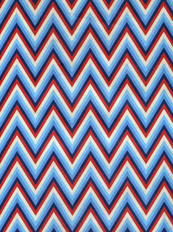 2393 Patriotic Chevron Backdrop - Backdrop Outlet