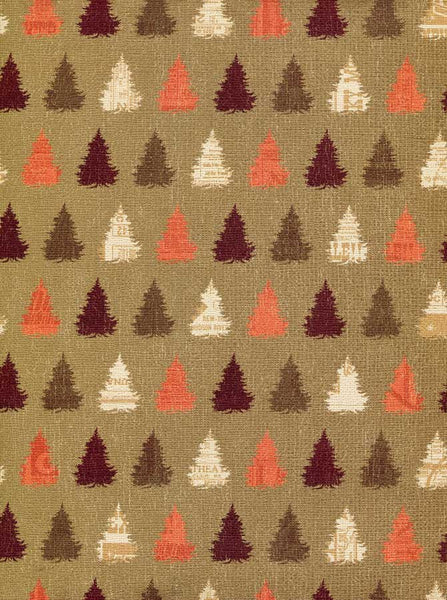 Christmas Tree Brown Backdrop - 2412 - Backdrop Outlet