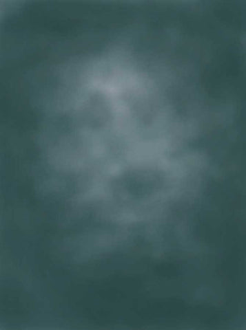 2501  Printed Old Masters Vinci Blue Green Backdrop - Backdrop Outlet