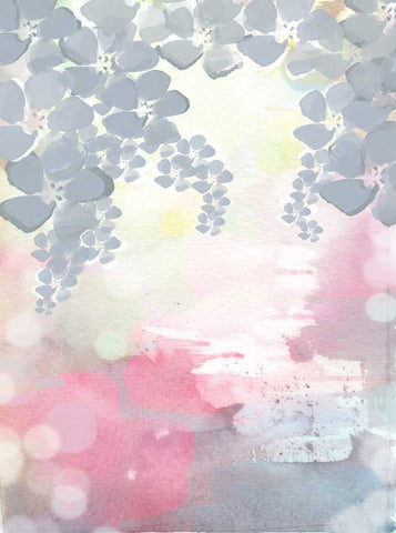 Watercolor Floral backdrop - 2555 - Backdrop Outlet