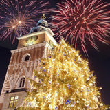 Christmas Fireworks Backdrop - 258 - Backdrop Outlet