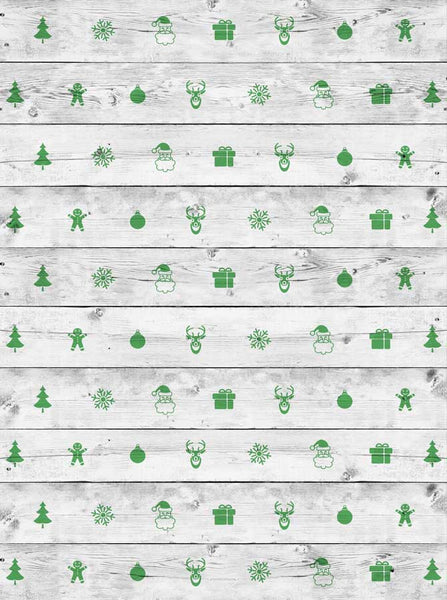Christmas Wood Backdrop - 2590 - Backdrop Outlet