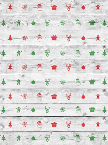 White Wash Christmas Backdrop - 2591 - Backdrop Outlet