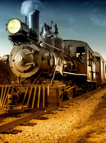 2738 Western Steam Train Backdrop - Backdrop Outlet