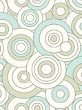 Circle Blue and Tan Pattern Backdrop - 279 - Backdrop Outlet