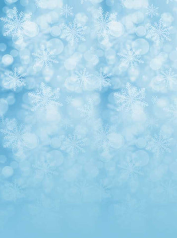 Sparkle Snow Blue Backdrop - 3117 - Backdrop Outlet
