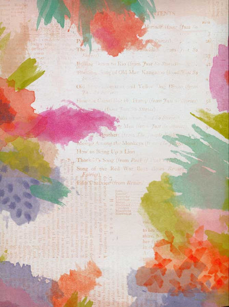 Print with Watercolor Flowers Backdrop - 3197 - Backdrop Outlet
