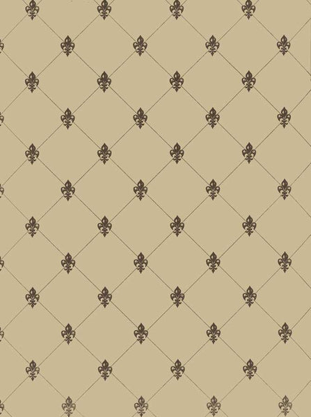 Fleur Pattern Tan Backdrop - 3228 - Backdrop Outlet