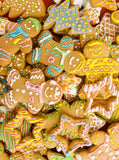 3456 Gingerbread Cookies Christmas Backdrop - Backdrop Outlet