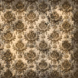 350 Damask Liberty Brown Photography Backdrop - Backdrop Outlet