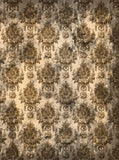 Damask Liberty Brown Photography Backdrop - 350 - Backdrop Outlet